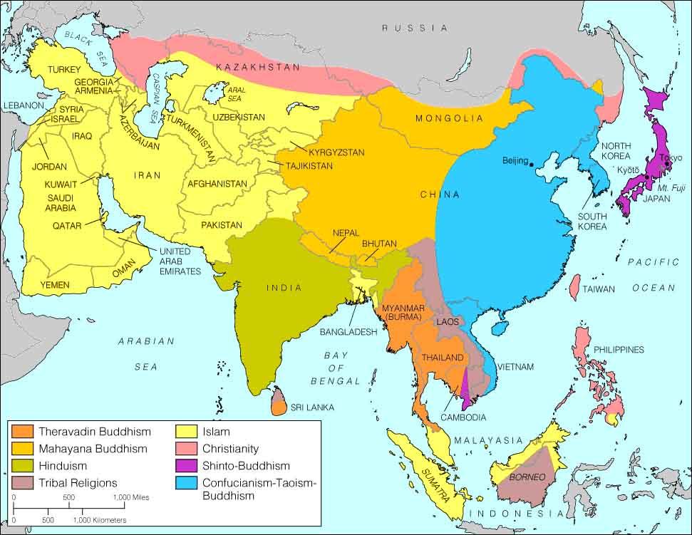 Religions asiatiques et Bouddhisme